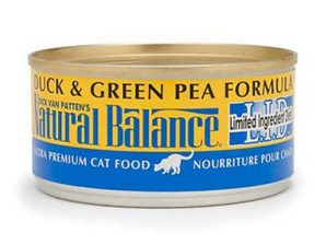 conserve chat natural balance canard pois