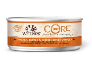 conserve wellness core chat poulet dinde foie